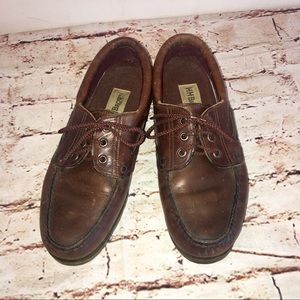 H.H Brown Handcrafted Brown Leather Boat Loafers